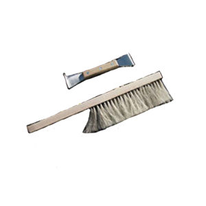 Hive tool and soft bee brush
