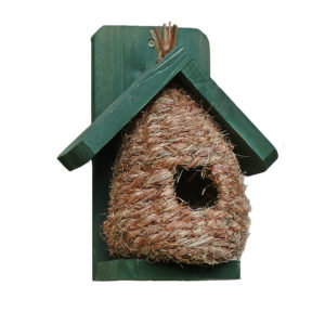 Nestbox with timber roof and frame