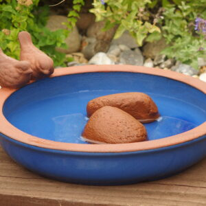 Blue Dipper Bird Bath
