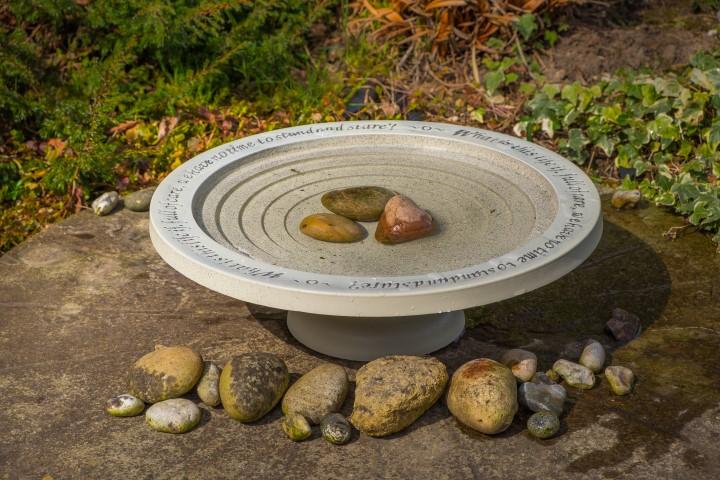 Home & Garden Bird Bath Drinker Table Insects Shenstone Theatre Garden Circular Natural Stone