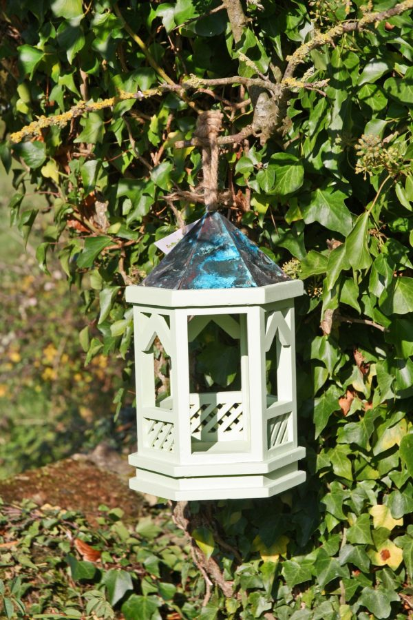Hanging Gothic Bird Table Green